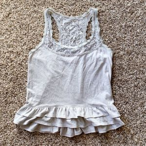 Hollister Beaded Ruffled Tank Top